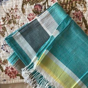 H&M Accessories - H&M Lightweight Striped Summer Cotton Scarf